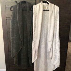 Set of Two Lucky Brand Sweater Vests L/XL w/pocket